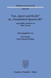 Von »Sport und Recht« zu »Faszination Sportrech...