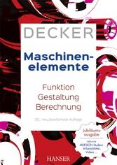 Decker Maschinenelemente - Funktion, Gestaltung...