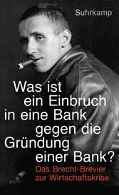 Was ist ein Einbruch in eine Bank gegen die Grü...