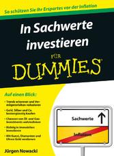 In Sachwerte investieren für Dummies