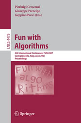 Fun with Algorithms - 4th International Conference, Fun 2007, Castiglioncello, Italy