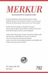 MERKUR Deutsche Zeitschrift für europäisches Denken - Heft 5 / Mai 2015