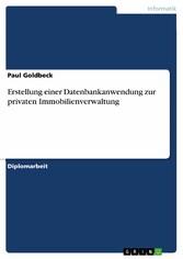 Erstellung einer Datenbankanwendung zur private...