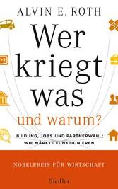 Wer kriegt was - und warum? - Bildung, Jobs und...