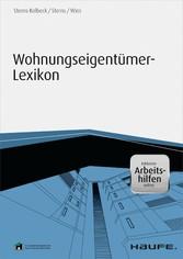 Wohnungseigentümer-Lexikon - inklusive Arbeitsh...