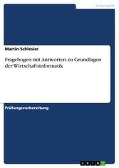 Fragebogen mit Antworten zu Grundlagen der Wirt...
