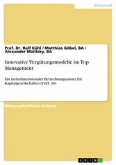 Innovative Vergütungsmodelle im Top Management ...