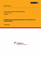 Evaluierung von Kreditverbriefungen aus der Sic...