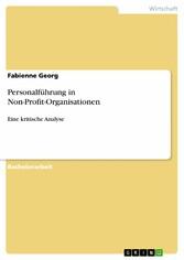 Personalführung in Non-Profit-Organisationen - ...