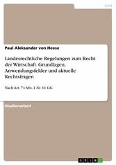 Landesrechtliche Regelungen zum Recht der Wirts...