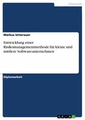 Entwicklung einer Risikomanagementmethode für k...