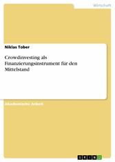 Crowdinvesting als Finanzierungsinstrument für ...