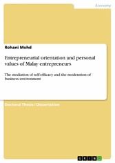 Entrepreneurial orientation and personal values...