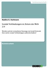 Soziale Verbindungen in Zeiten des Web 2.0 - We...