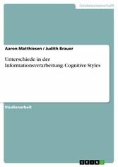 Unterschiede in der Informationsverarbeitung. C...
