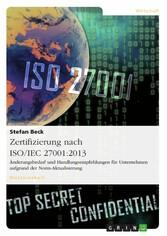Zertifizierung nach ISO/IEC 27001:2013. Änderun...