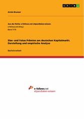 Size- und Value Prämien am deutschen Kapitalmar...