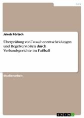 Überprüfung von Tatsachenentscheidungen und Reg...