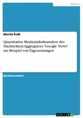 Quantitative Medieninhaltsanalyse des Nachricht...