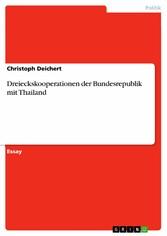 Dreieckskooperationen der Bundesrepublik mit Th...