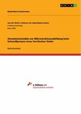 Simulationsstudien zur Mikrostrukturausbildung ...