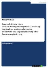 Personalisierung eines Content-Management-Syste...