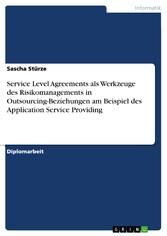 Service Level Agreements als Werkzeuge des Risi...