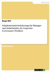 Schadenersatzversicherung für Manager und Aufsi...