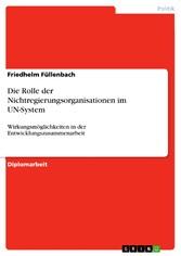 Die Rolle der Nichtregierungsorganisationen im ...