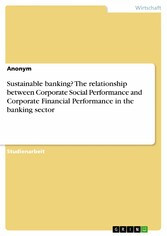 Sustainable banking? The relationship between C...