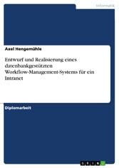 Entwurf und Realisierung eines datenbankgestütz...