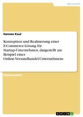 Konzeption und Realisierung einer E-Commerce-Lö...