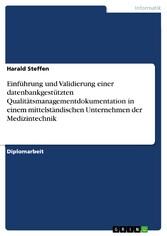 Einführung und Validierung einer datenbankgestü...