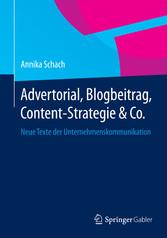 Advertorial, Blogbeitrag, Content-Strategie & C...