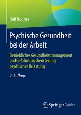 Psychische Gesundheit bei der Arbeit - Betriebl...