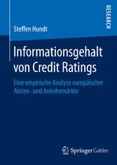 Informationsgehalt von Credit Ratings - Eine em...
