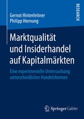 Marktqualität und Insiderhandel auf Kapitalmärk...