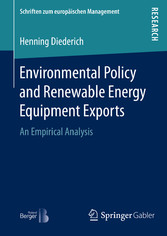 Environmental Policy and Renewable Energy Equip...