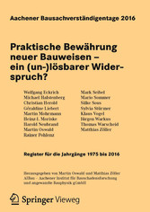 Aachener Bausachverständigentage 2016 - Praktis...