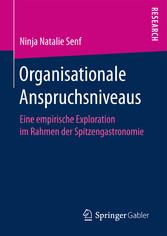 Organisationale Anspruchsniveaus - Eine empiris...