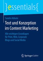 Text und Konzeption im Content Marketing - Alle...