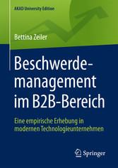 Beschwerdemanagement im B2B-Bereich - Eine empi...