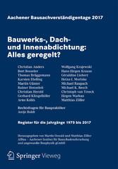 Aachener Bausachverständigentage 2017 - Bauwerk...