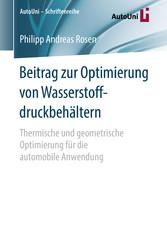 Beitrag zur Optimierung von Wasserstoffdruckbeh...
