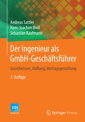 Der Ingenieur als GmbH-Geschäftsführer - Grundw...