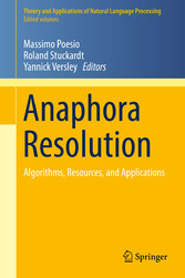 Anaphora Resolution - Algorithms, Resources, an...