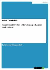 Soziale Netzwerke. Entwicklung, Chancen und Ris...