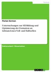 Untersuchungen zur SEI-Bildung und Optimierung ...