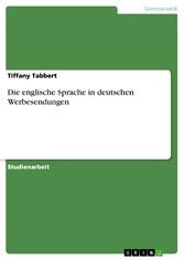 Die englische Sprache in deutschen Werbesendungen