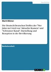 Die Deutsch-Deutschen Treffen der 70er Jahre im...